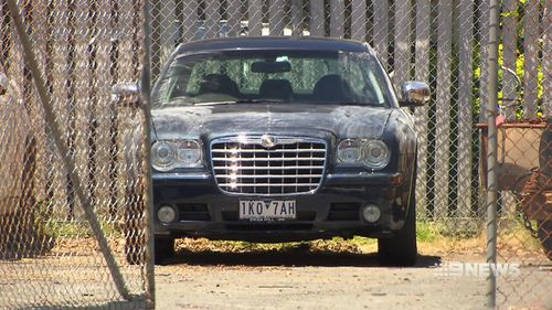 Mr Pruis's Chrysler sedan. (9NEWS)