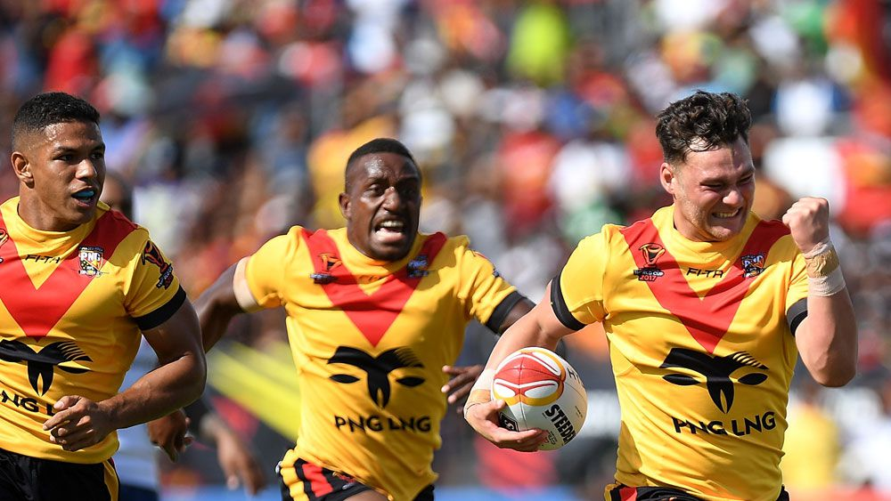 Debutant Lachlan Lam stars in PNG rout of USA in World Cup match in Port Moresby