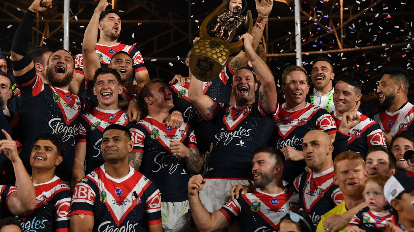 Roosters lift trophy