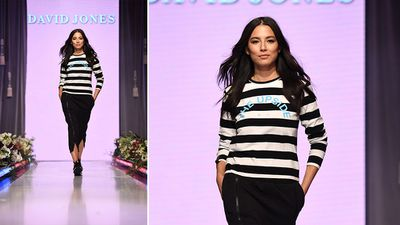 Model Jessica Gomes wears an outfit by The Upside. (AAP)