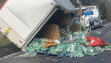 VB spills on NSW road