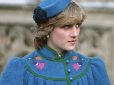Princess Diana on her first royal Christmas in 1981.