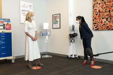 Dr. Jill Biden at the Whitman-Walker Health. (AP Photo/Jacquelyn Martin, Pool)