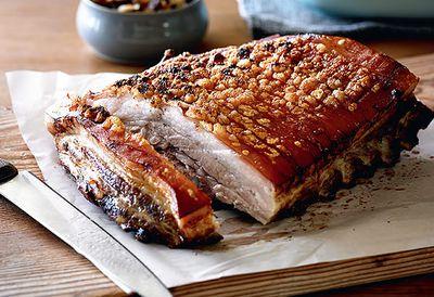 Crunchiest crackling pork belly