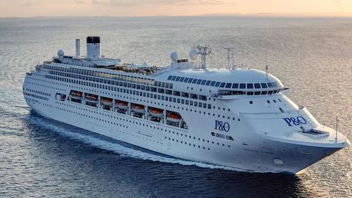 A major manhunt off the New Caledonia coast has been called off after a woman was spotted going overboard on the Pacific Dawn. (P&O)