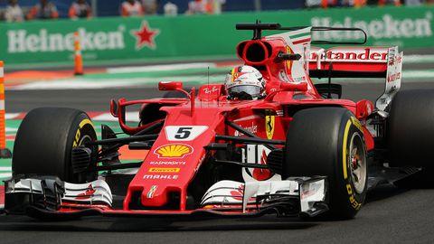 Ferrari driver Sebastian Vettel.