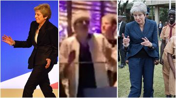 Outgoing British PM Theresa May busted a move at an ABBA tribute concert on the weekend.