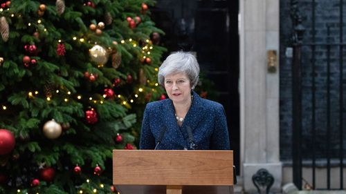 """Earlier, in a fiery speech outside 10 Downing Street, Mrs May said she was determined to """"finish the job"""" of negotiating the UK's divorce from the European Union and warned removing her as leader risks the future of the country."""