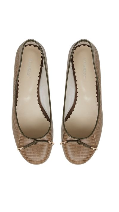 "<a href=""http://www.sambag.com.au/shoes/tina-lizard-embossed-leather"" target=""_blank"">Flats, $190, Sambag</a>"