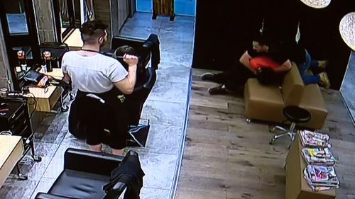 A hairdresser was left stunned by the violent arrest which unfolded in front of him. Picture: Supplied