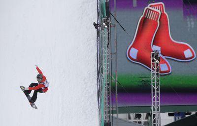 Norwegian snowboarder Silje Norendal during practice. (AAP)
