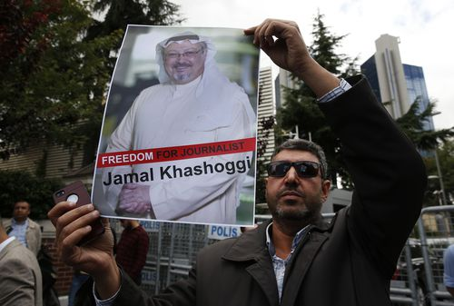Meanwhile, protests have been launched outside the consulate for the freedom of press and for the revelation of Khashoggi's whereabouts.