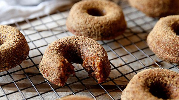 Gluten- and dairy-free baked cinnamon doughnuts