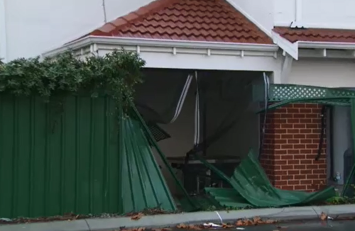 The Nguyen family were shocked when a car came crashing through their fence, narrowly missing two of them.