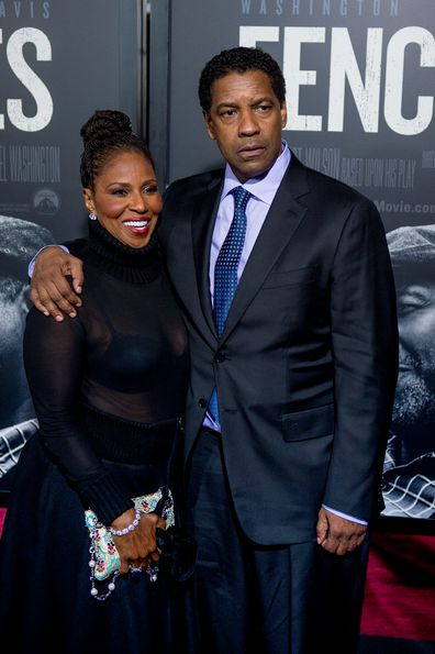 """Pauletta Washington and Denzel Washington attend """"Fences"""" New York Screening at Rose Theater, Jazz at Lincoln Center on December 19, 2016 in New York City."""