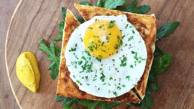 "Recipe:&nbsp;<a href=""http://kitchen.nine.com.au/2017/07/24/11/30/mrs-sippys-croque-madame"" target=""_top"">Mrs Sippy's croque madame</a>"