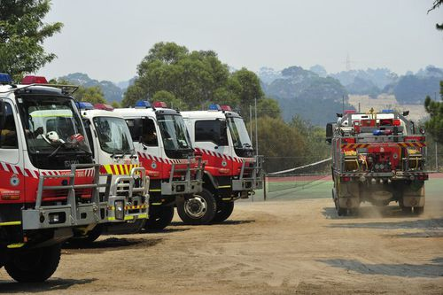 Fire crews are prepared for potential fires that may break out from the heat today. (AAP)