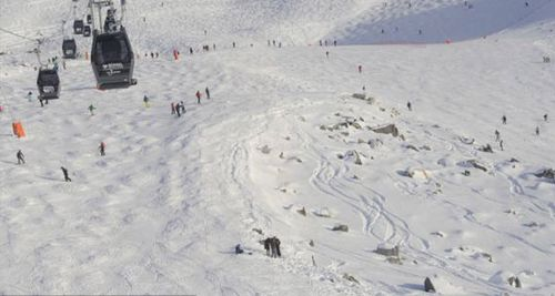 The off-piste area where Michael Schumacher is believed to have hit his head causing a critical brain injury.