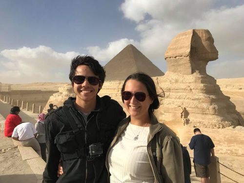 Montanna Leveque and River Kano in Egypt. (Facebook)