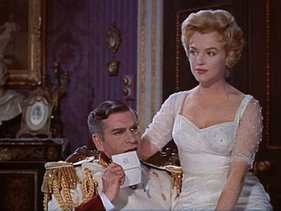 Marilyn Monroe and Laurence Olivier in The Prince and the Showgirl.