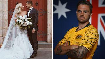 Socceroo star's honeymoon on hold for World Cup dream