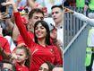 Ronaldo's girl cheers on record goal