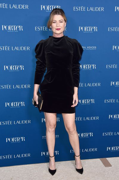 Ellen Pompeo attends PORTER's Third Annual Incredible Women Gala at The Ebell of Los Angeles on October 9, 2018 in Los Angeles, California