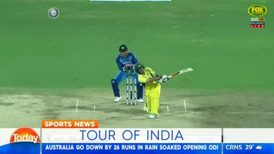 Cricket: Australia slump to ODI loss against India in rain-affected match in Chennai