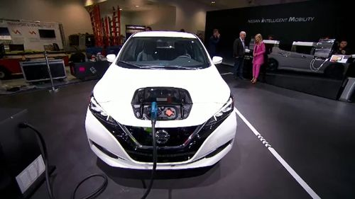 The Nissan Leaf is an electric vehicle that can be charged at home.