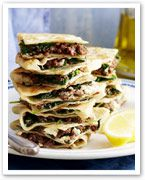 Lamb and spinach gozleme