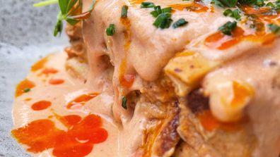 Botero House lockdown butter chicken lasagne