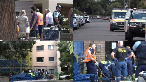 Sydney woman injured after man falls three storeys and lands on her