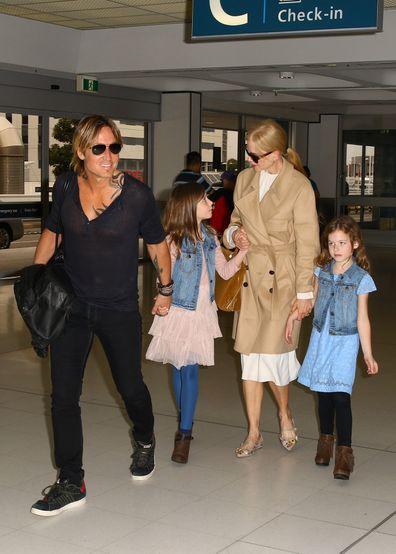Nicole Kidman, Keith Urban, Sunday Rose, Faith Margaret