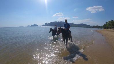 Horseback riding at AoNamao Beach