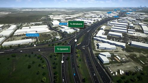 The Queensland government has finalised plans for stage 1 of the $400 million Ipswich Motorway Upgrade. Picture: Supplied.