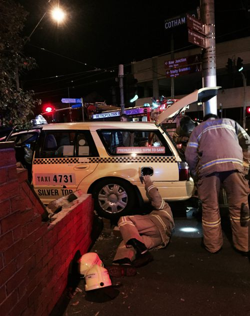 Emergency services work to free the vehicle. (Will Colliver/Supplied)