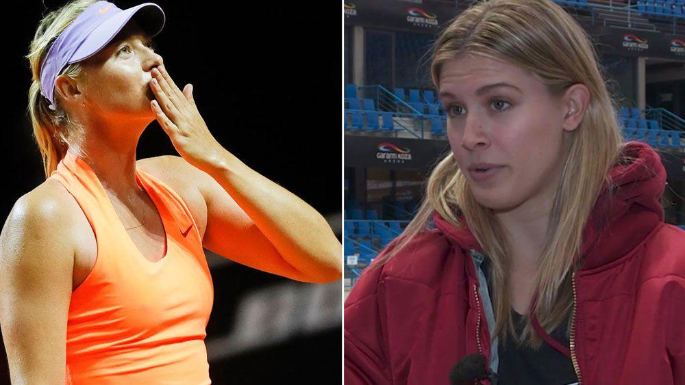 Eugenie Bouchard calls Maria Sharapova a 'cheat' following return from doping ban