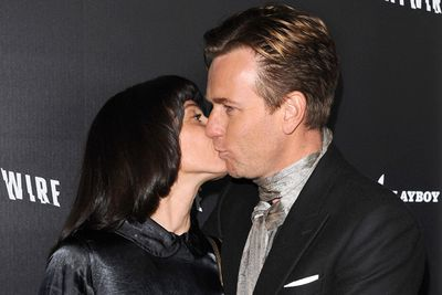 Awkward cheek kiss...the best way to avoid unwanted saliva exchange.