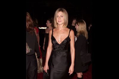 In sexy black satin at the 27th Annual People's Choice Awards in 2001.