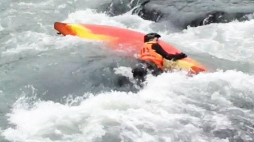 Daniel Hartung lost control of his kayak.
