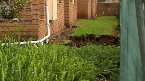 The holes grew larger overnight. (9NEWS)