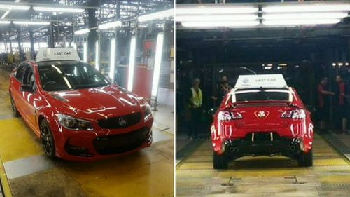 The last Holden Commodore to roll off the line was of course a big V8.