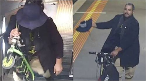 The man fled the scene on a green motorised scooter. (Victoria Police)