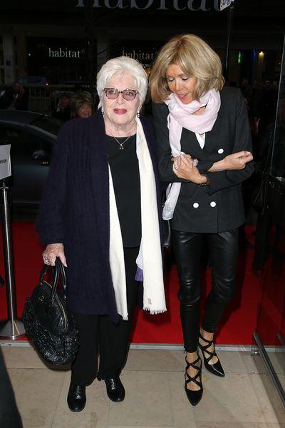 Brigitte and french singer, Line Renaud in Paris, April 2016