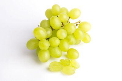 Whole grapes: 15.5g sugar per 100g