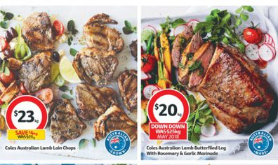 Lamb chops are on sale at Coles this week.
