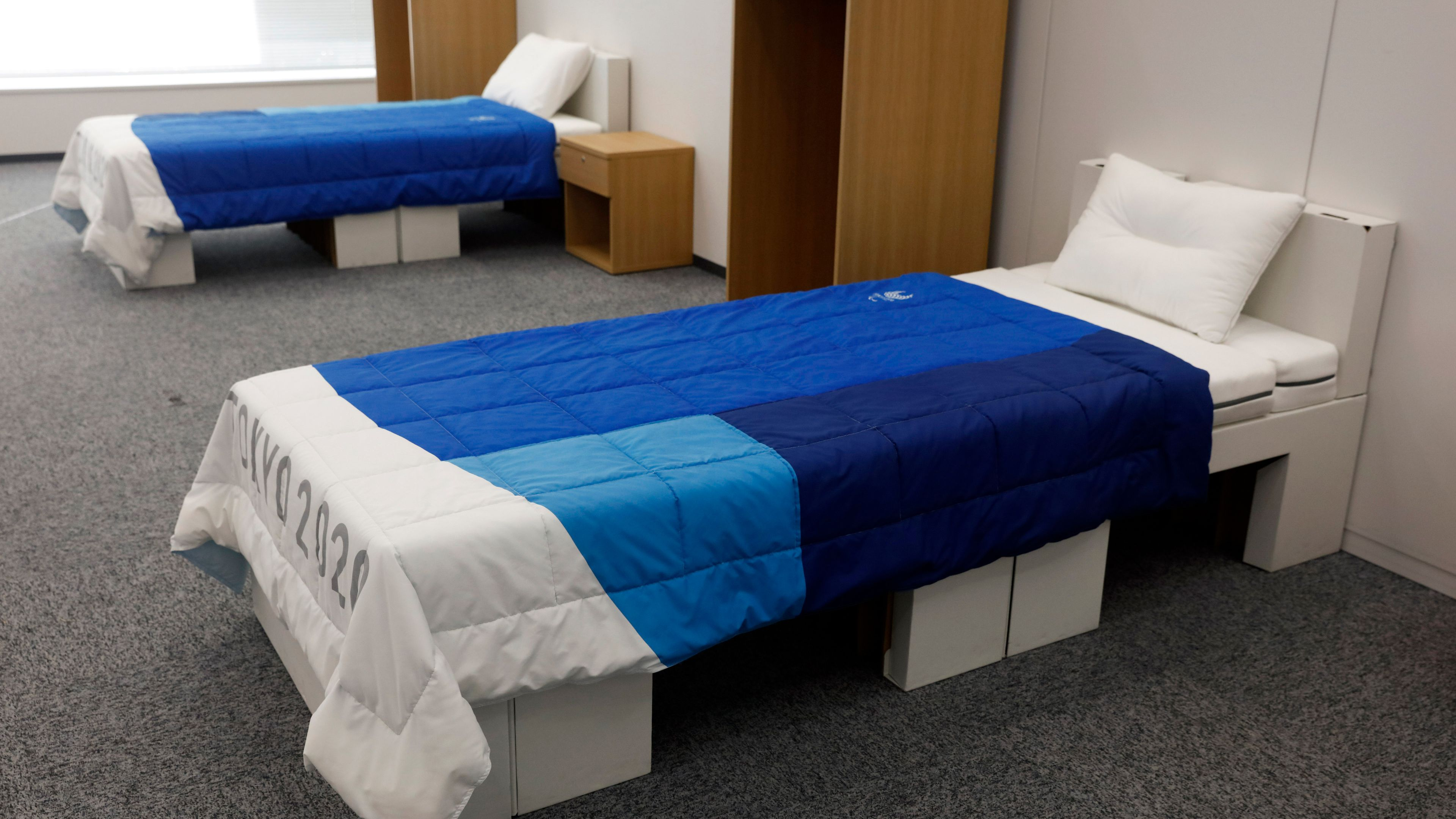 Unveiled: the bedroom furniture to be used at the Athletes' Village at the Tokyo Games.
