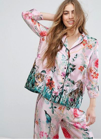 "<p><a href=""http://www.asos.com/au/river-island/river-island-jungle-print-pyjama-shirt/prd/8307731?clr=pinkprint&SearchQuery=pyjamas&pgesize=36&pge=1&totalstyles=738&gridsize=3&gridrow=10&gridcolumn=1"" target=""_blank"" draggable=""false"">River Island Jungle Print  Shirt in Pink Print, $40</a></p> <p><a href=""http://www.asos.com/au/river-island/river-island-jungle-print-pyjama-pants/prd/8307735?CTAref=Complete%20the%20Look%20Carousel_1&featureref1=complete%20the%20look"" target=""_blank"" draggable=""false"">River Island Jungle Print Pants in Pink Print, $40</a></p>"