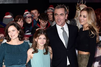 James Nesbitt, who plays Bofur, with his wife Sonia Forbes-Adam Nesbitt and daughters Mary and Peggy.