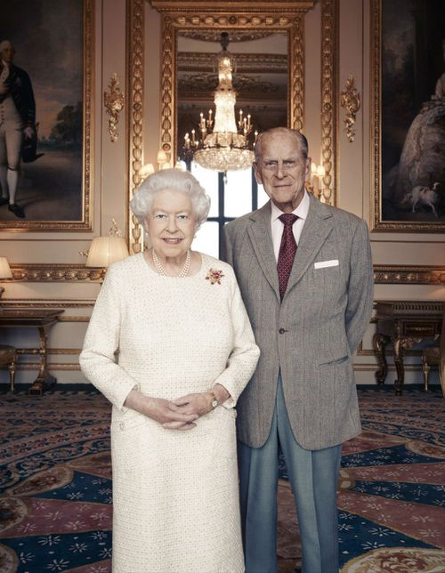 A new portrait of Queen Elizabeth II and the Duke of Edinburgh has been released to mark their 70th wedding anniversary. (AAP)